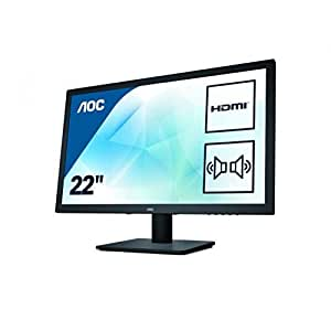 AOC 21 inch LED Monitor, HDMI, DVI, VGA, Speakers, Vesa E2275SWJ