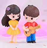 P S Retail Sweety Lovers- Guitar Couple Figurine Miniature - Style 36 (2 pcs/Set)