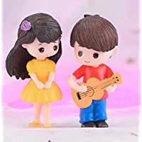 P S Retail Sweety Lovers- Guitar Couple Figurine Miniature - Style 36 (2 pcs/Set)