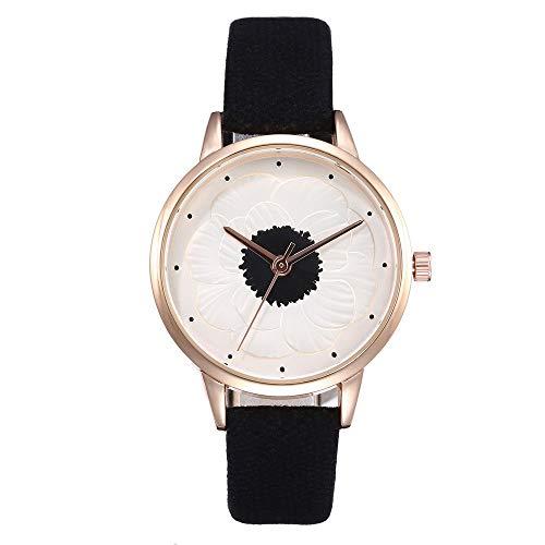 7e054c5aa422 POJIETT Reloj Pulsera Mujer Relojes de Moda para Chicas Reloj Analogico de  Cuarzo Reloj Negro Blanco Marrón MujerJoyas Regalos