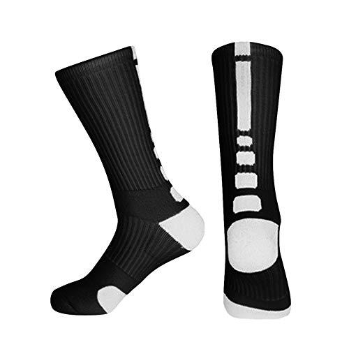 Manooby Hohe Tennissocken Herren Damen Crew Socken Unisex Basic Sportsocken Baumwolle Tennis Socken, 1/3/5/6 Paar -