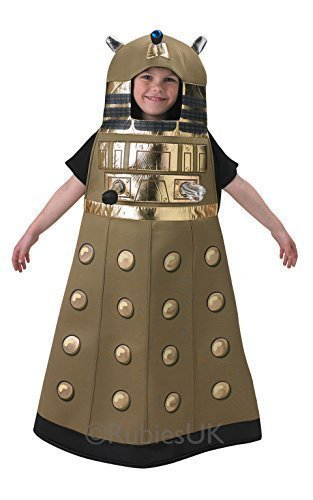 (Offiziell Jungen Dalek Doctor Dr. Who Büchertag Halloween Robot Sci Fi Fach Futuristisch Kostüm Kleid Outfit - Braun, 110-116)
