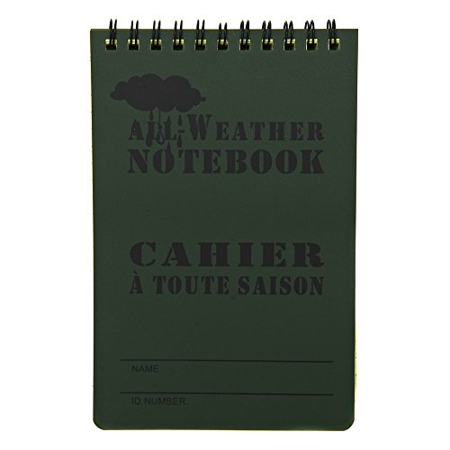 Taccuino Block Notes militare impermeabile anti acqua a quadretti (Large)