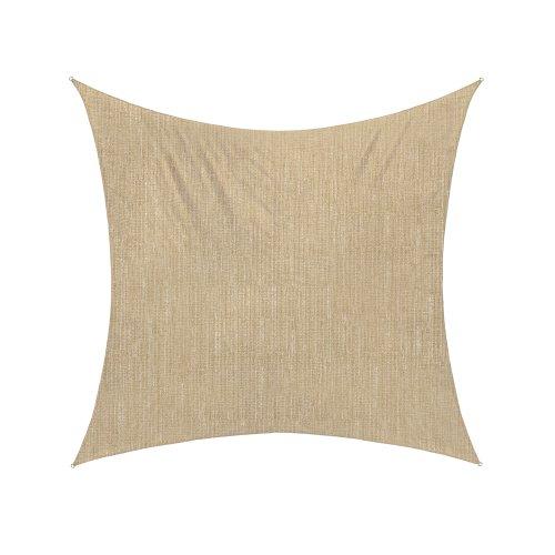 Jarolift Voile d'ombrage | Toile d'ombrage | Carré | Tissu respirant | 360 x 360 cm, sable