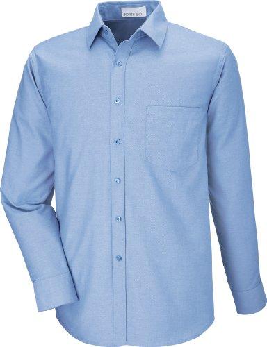 North End Mens Windsor Long Sleeve Oxford Shirt (87038) -Light Blue -5XL -