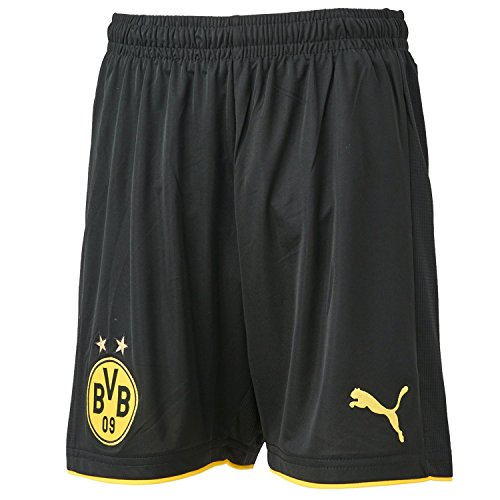 PUMA Kinder Hose BVB Replica Shorts, black-cyber yellow, 152, 749834 02