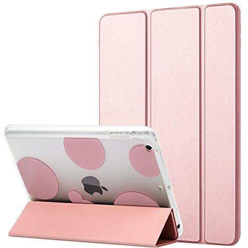 Dailylux iPad mini Hülle,iPad mini 2 Hülle,iPad mini 3 Hülle,Shockproof TPU + harter PC intelligente Fall-Abdeckung mit Selbstschlaf /Wake Funktion für ipad mini 1/2/3 -Bubble Rose Gold (Gold Ipad Mini 1 Fall)