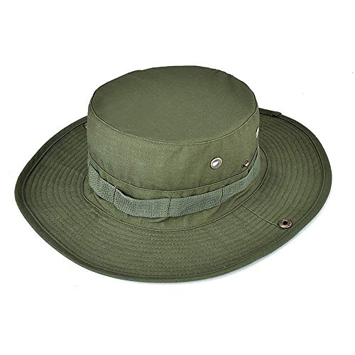 Gajaous Damen Herren Camo Sonnenhut breiter Krempe Boonie Hut Outdoor Sports Wandern Cap Sommer Angeln Safari Bucket String Hut Chocolate Chip Camouflage