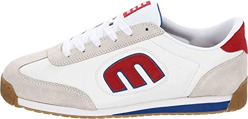 Etnies Lo Cut II 2 LS White Blue Red Leather Mens Trainers