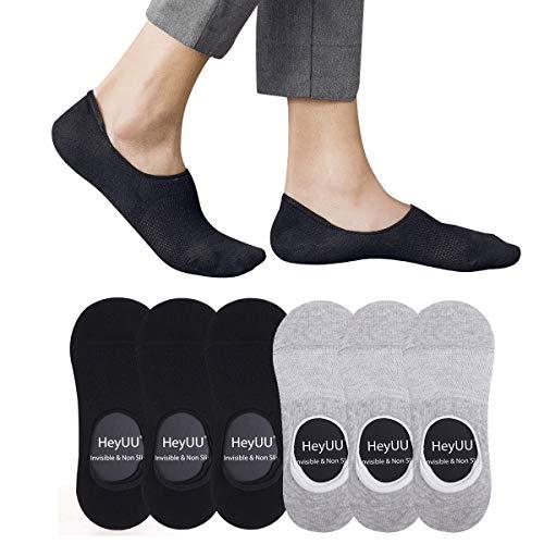 HeyUU Herren & Damen Baumwolle Füßlinge Unsichtbare Sneaker Socken Mit 8 Rutschfeste Silikonstreifen Nicht Fallen Socken ... -