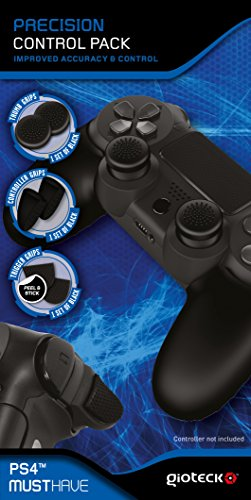 Gioteck PCPPS4-11-MU Precision Control Pack für PS4 (Controller-Griffe, Daumengriffe, Trigger-Griffe) Playstation 4 Schwarz (Skill Ersatzteile)
