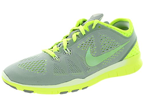 Nike W Free 5.0 Tr Fit 5 Brthe, Scarpe sportive, Donna Wolf Grey/Cyber/Volt/White