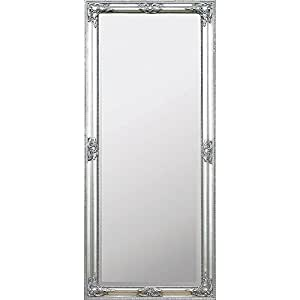 gro er wandspiegel silber 150x60cm barock mit ornamenten. Black Bedroom Furniture Sets. Home Design Ideas