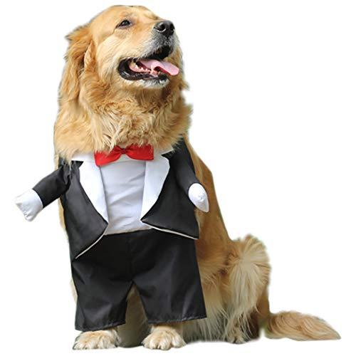 Legendog Hundebekleidung Braut Und Bräutigam Cosplay Hund Hochzeitskostüm ()