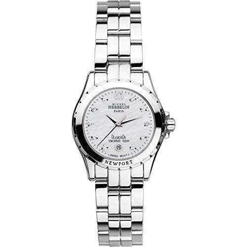 MICHEL HERBELIN Newport Trophy MINI� Damen-Armbanduhr 27MM Batterie 12870/B89