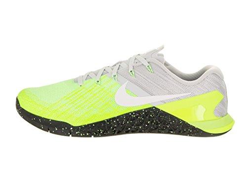 Nike Metcon 3, Chaussures de Gymnastique Homme Hellgrau (Pure Platinum/Volt/Ghost Green/Black)