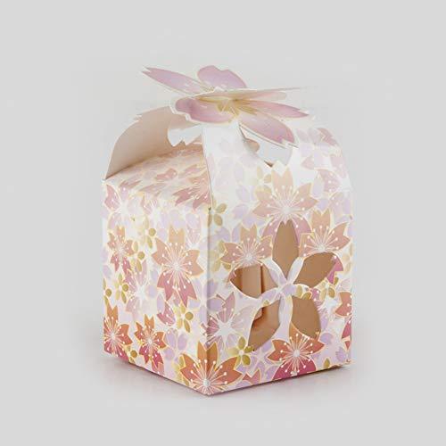 Faironly - confezione da 50 scatole per confetti nuziali in stile cinese, con petali cavi, per bomboniere e caramelle pera fiore