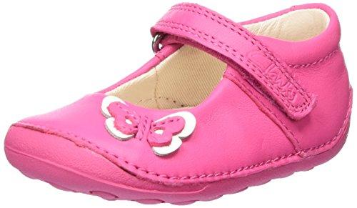 Clarks Little Mia, Chaussures Quatre Pattes (1-10 Mois) Bébé Fille Rose (Hot Pink)