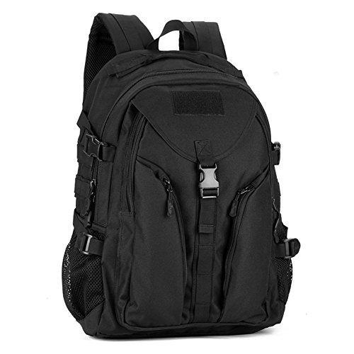 Imagen de huntvp  de asalto estilo militar táctical bolsa impermeable de nylon 40l para las actividades aire libre senderismo caza viajar color negro y marrón