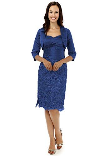 Albrose breve Satin abito formale Madre della Sposa Prom dresses Royal Blue 46