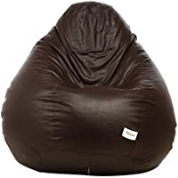 Sattva Classic Bean Bag filled with beans - XXXL Size - Brown Colour