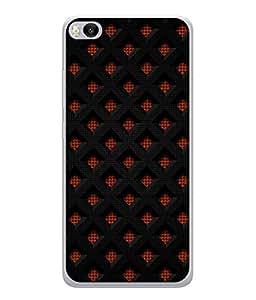 PrintVisa Designer Back Case Cover for Xiaomi Mi5S (Cute Diamond Design In Black And Red)