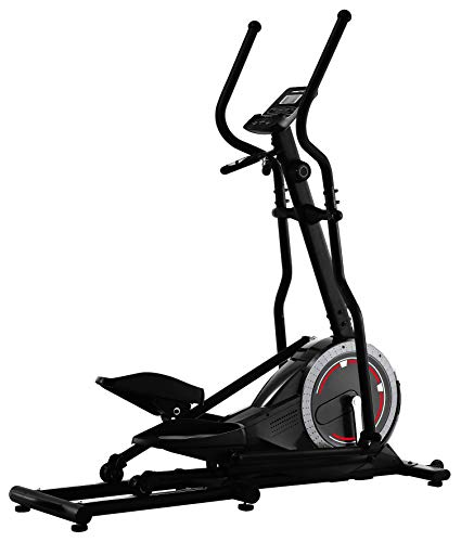 TechFit FW470 Elliptical Cross Trainer, Exercise Fitness Bike with 10 KG Front Wheel, 8 levels of Intensity, Ideal for Toning, Weightloss and Workout
