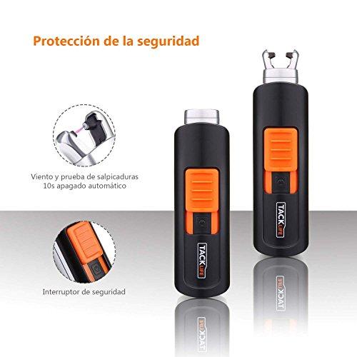 TACKLIFE Encendedor,  ELY03 Mini Mechero Clásico Eléctrico,  sin Llama ni Olor,  Batería Interna de 220 mAh,  Usos más de 400 Veces,  Recargable con USB,  para Cigarrillos,  Velas,  Papel,  Madera Fina,  Estufa