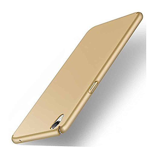 VorsonTM All Sides Protection Sleek Hard Plastic Matte Hard Case Back Cover Perfectly Designed for Vivo Y51L - Champagne Gold