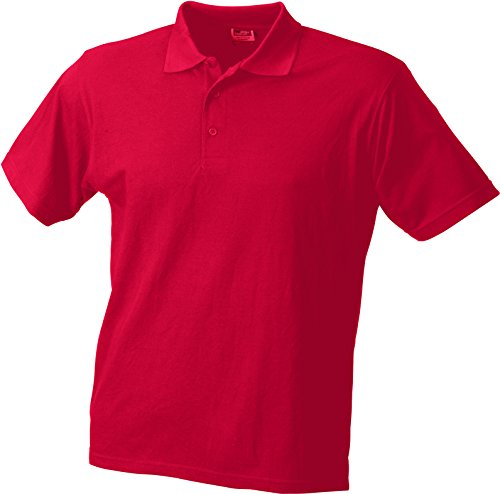 James & Nicholson Herren Poloshirt Worker Polo Rot (Red)