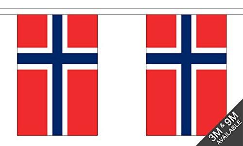 Die Flagge Großhändler b039411Norwegen Wimpelkette, Mehrfarbig, 24x 1x 23cm