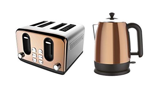 Copper Breakfast Set Toaster /& Kettle 2 Piece