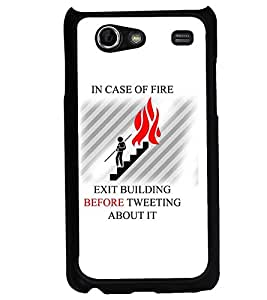 PRINTVISA Quotes Tweet Case Cover for Samsung Galaxy S Advance I9070