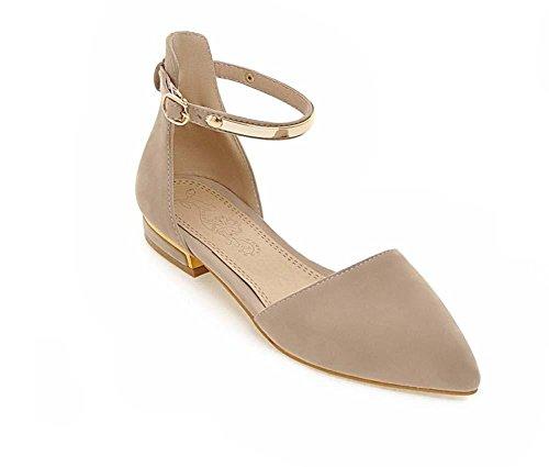 NobS Donna Sandali Suede metallo Large Size 40-45 cinturini alla caviglia Point Appartamenti Toe apricot