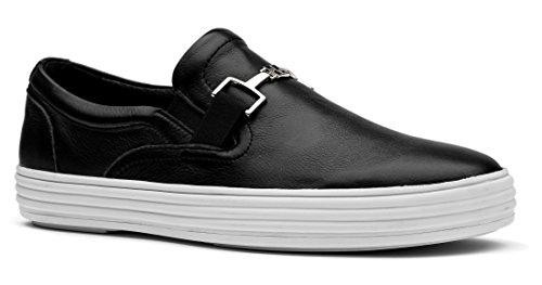 OPP Scarpe da Uomo Flats Vera Pelle Loafer Scarpe Nero