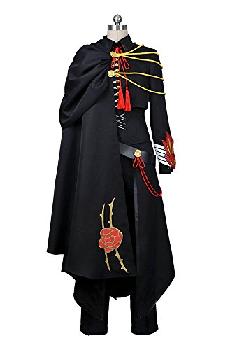 Geass Code Kostüm Cosplay Lelouch - Code Geass Lelouch of the Rebellion Schwarze Uniform Cosplay Kostüm Herren M