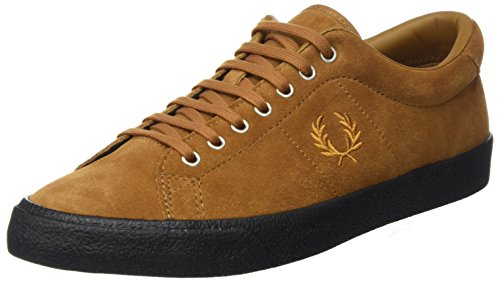 Ginger Brown Schuhe (Fred Perry Underspin Suede Ginger Black B2130434, Turnschuhe - 43 EU)