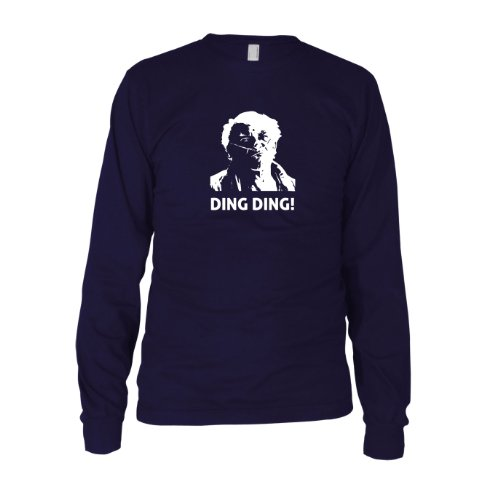 Ding Ding - Herren Langarm T-Shirt, Größe: M, dunkelblau (Hector Breaking Bad Kostüm)
