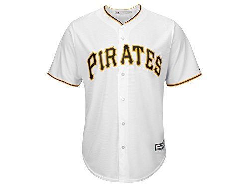 Majestic Pittsburgh Pirates Cool Base MLB Home, bianco
