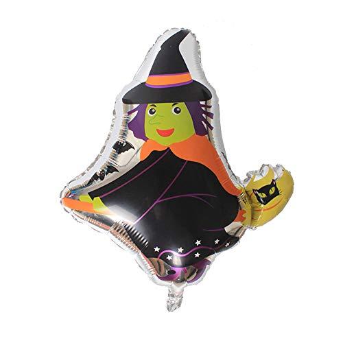 FGRYB Folien-Ballone für Halloween-Party, Spaß Aluminium Film Balloons perfekte Atmosphäre für Halloween-Party-Deko Supplies (Hexe Balloons-59 * 67cm)