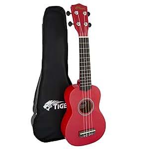 tiger beginner soprano ukulele and bag red musical instruments. Black Bedroom Furniture Sets. Home Design Ideas