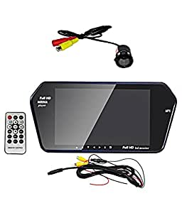 AutoTrends Full HD Monitor with Mp5 Sd-Card USB and Rear View Night Vision Camera for Car