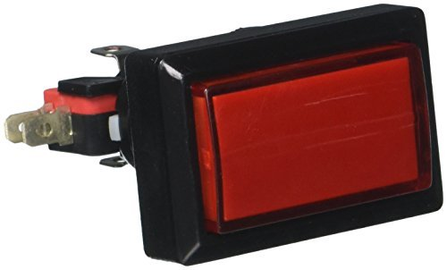 DealMux 50mm x 33mm AC 250V 15 Amp Illuminated Rechteck Rot Momentary Push Button Switch Illuminated Push Button Switches