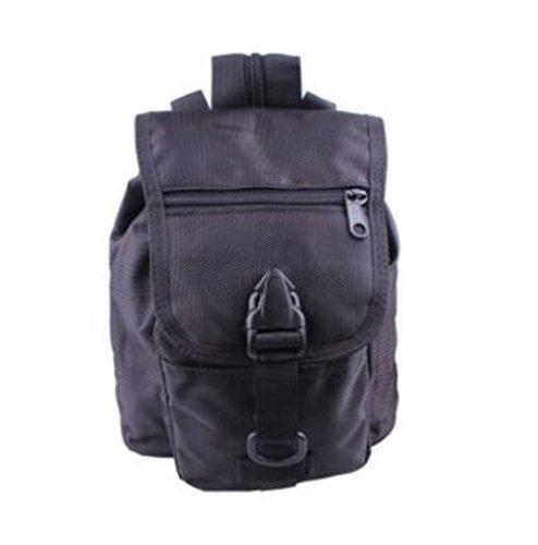 GOUQIN Outdoor Rucksack Klassische Mode Outdoor Rucksack Taschen Klettern Reisen Bewegung Ausführen Paket Tragbaren Kleinen Rucksack Schwarz