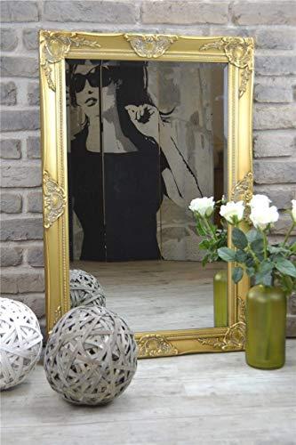 Livitat Wandspiegel Spiegel Badspiegel barock antik Gold (90 x 60 cm)