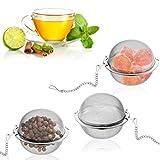 Silverback 3X Teeei Teesieb Für Tasse Oder Teekanne - Teebeutel Für Losen Tee - Teefilter Aus Edelstahl - Tee Ei Sieb Gewürzkugel