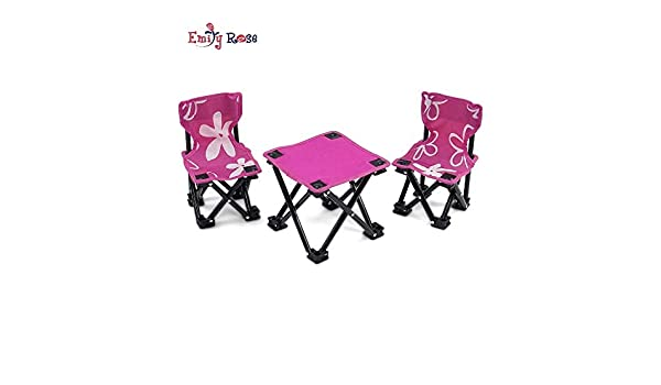 18 Inch Doll AccessoriesAwesome Pink and White Flowered Camping Sports Chairs