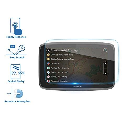 [2 Stück] Tomtom GO 620 6200 6250 GPS Panzerglas Schutzfolie - LFOTPP 9H Kratzfest Premium Displayschutzfolie