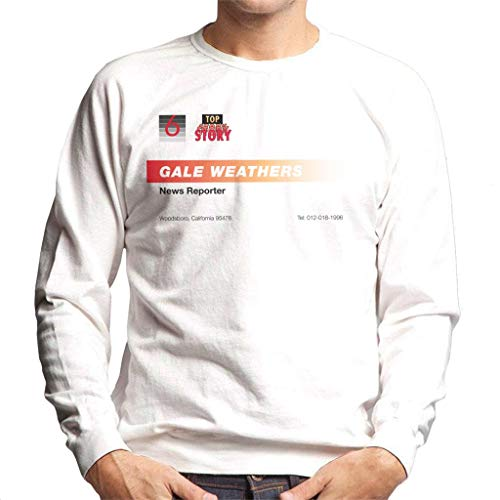 Gale Weathers News Reporter Business Card Men's Sweatshirt ()