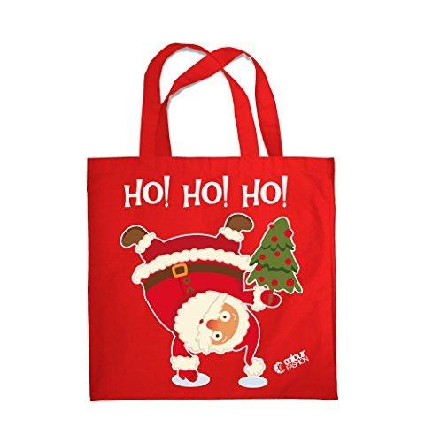 Colour Fashion Weihnachten Ho!Ho!Ho! Weihnachtsmann Einkauf Fitness Strand Tragetasche 0079 Rot
